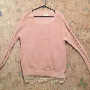Sweaters - Urban Sweater with Lace